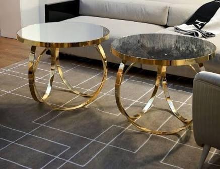 glass gold metal coffee table - Google Search