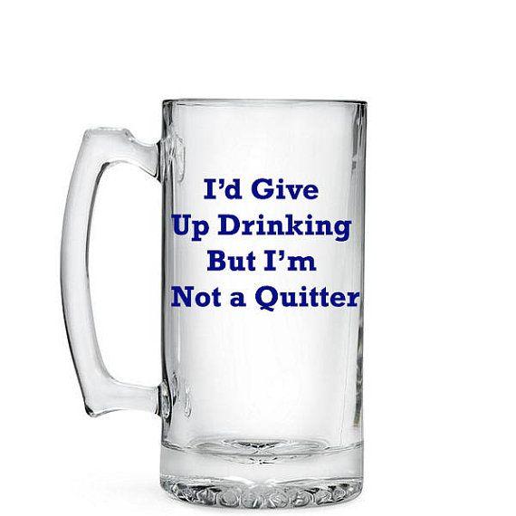 funny drinking beer mug 265oz beer stein by - Glass Beer Mugs