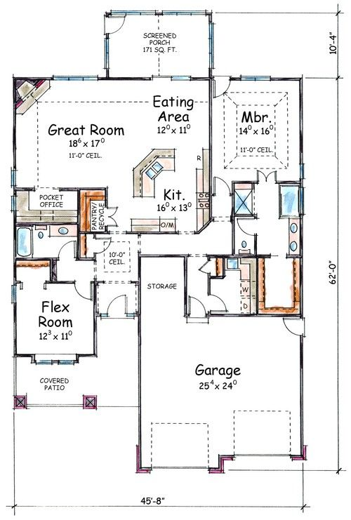1000 images about 1800 sq ft house plans on pinterest for 1800 sq ft bungalow floor plans