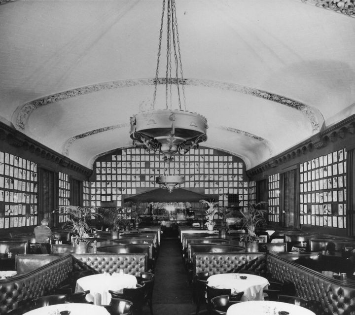 Interior of the Brown Derby in Hollywood