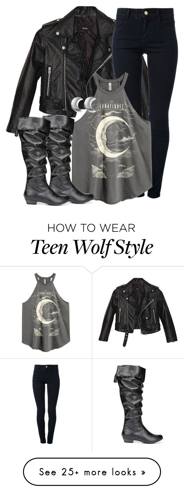 """Derek Inspired Outfit - Teen Wolf"" by clawsandclothes on Polyvore featuring Nasty Gal, STELLA McCARTNEY, Fergie and ChloBo"