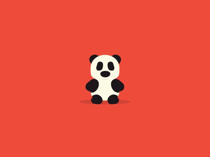 Hungry Panda {gif} by Linn Fritz