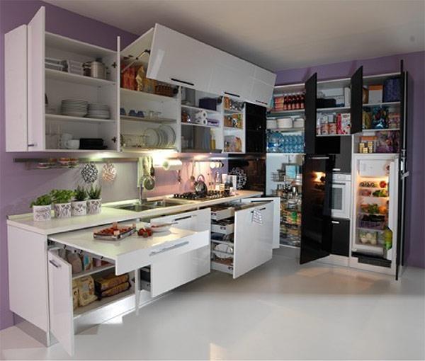 La soluzione per sfruttare al massimo lo spazio interno delle cucine angolari