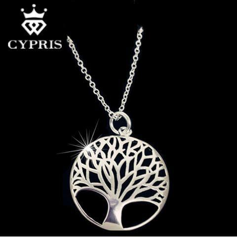 Silver Tree Of Life 18inch Pendant Necklace jewelry