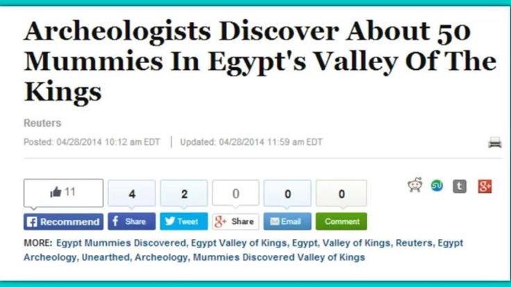 Big Find! Archeologists Discover About 50 Mummies In Egypt's Valley Of T...
