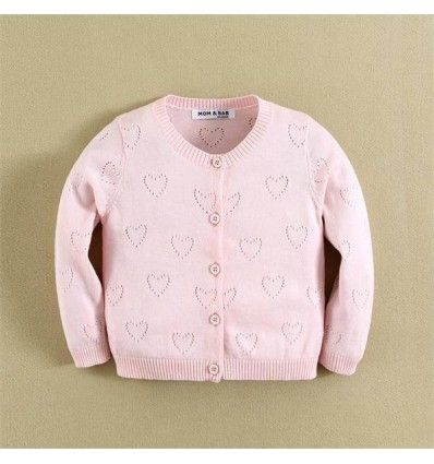 Jual sweater bayi anak Mom and Bab Cardigan Sweater - Pink Love