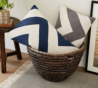 Navy Living Room Chair With White Stitching