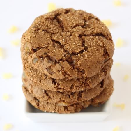 These 100% whole grain soft and chewy ginger cookies are so easy to make and are full of flavor!