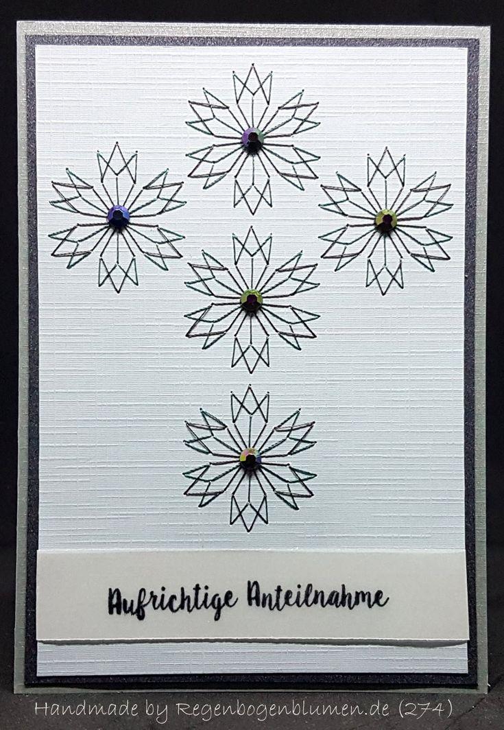 Trauer & Beileid - Fadengrafik Grußkarten Set 274 Trauer 03 - ein Designerstück von Bastelfan1809 bei DaWanda
