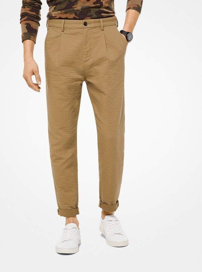 856aae80d38095 Michael Kors Mens Textured Stretch-Cotton #Pants!   Men's Fashion & Style  in 2018   Pinterest
