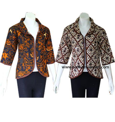 Blus Batik Wanita Modern Terbaru BBD014 - Baju Batik Wanita Terbaru
