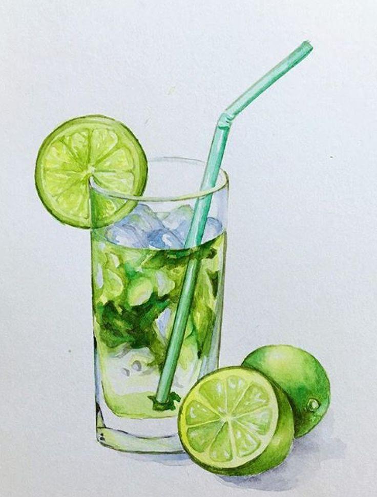 писал рисунок лимонада акварелью видят практически все