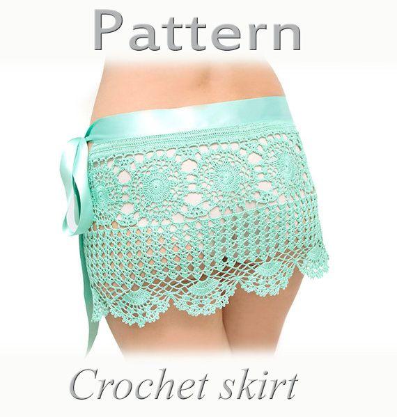 PATTERN Crochet beach skirt PDF by katrinshine on Etsy