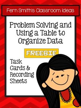 #FREE Problem Solving with Tables to Organize Data Task Cards NO Common Core {An additional Go Math resource for 3rd grade, Chapter 2.} #TPT #nocommoncore