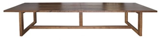 """LIVE EDGE   DINING TABLE  L 144"""" W 40"""" H 30""""  Constructed of salvaged black walnut wood, this rectangular dining table blends exacting design with environmental consciousness. Decorative butterfly joints grace the center of the table SPI Design"""