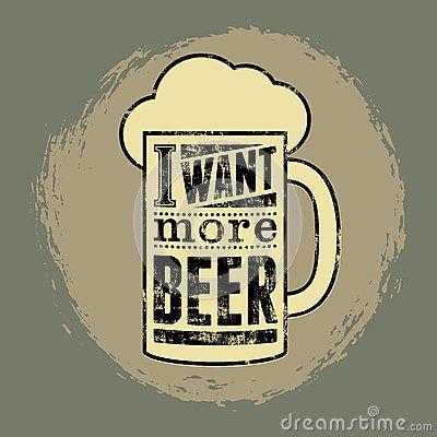 Cartel retro tipográfico de la cerveza de la frase del grunge Ilustración del…