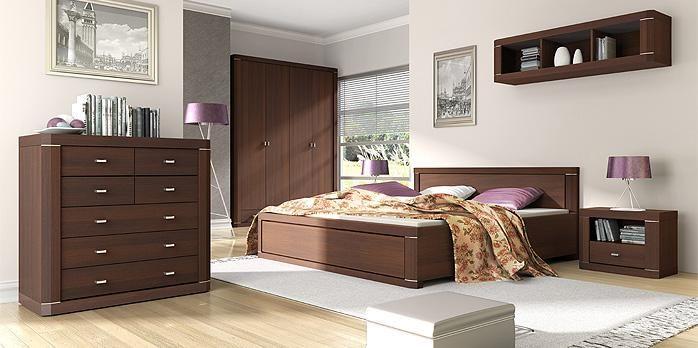 Sypialnia z kolekcji VENTI to ponadczasowe piękno zamknięte w eleganckiej, klasycznej formie.