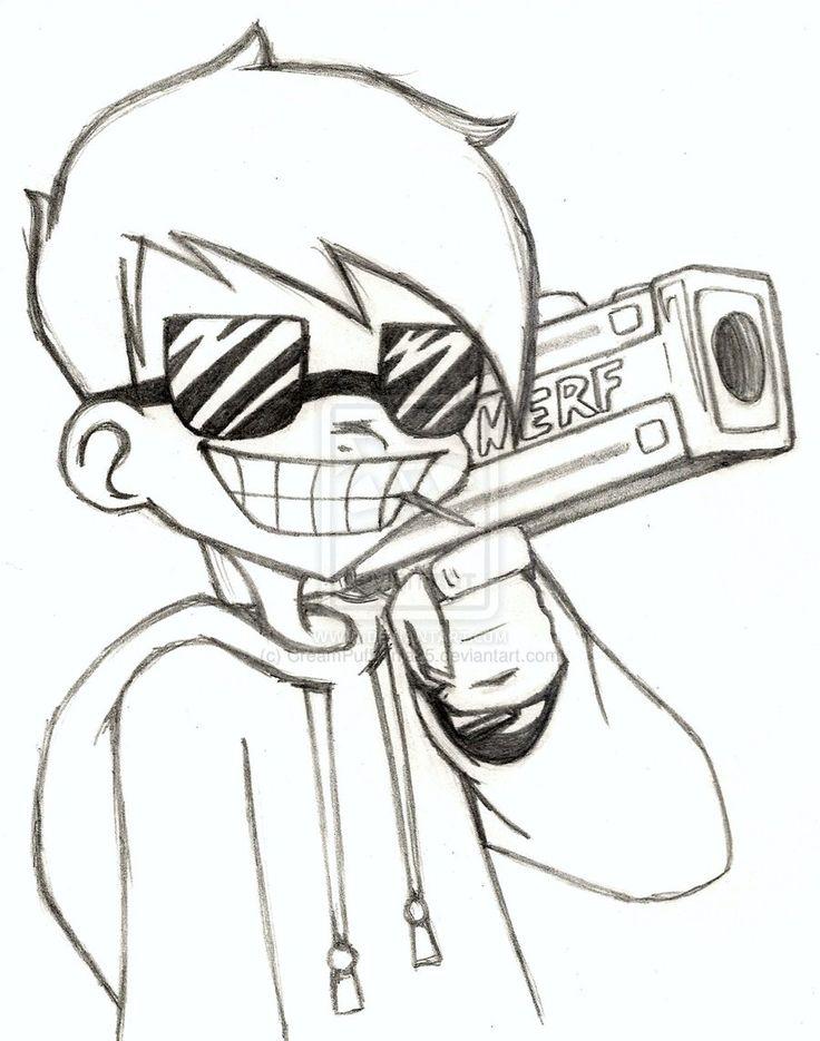 cool drawings easy drawing graffiti guns