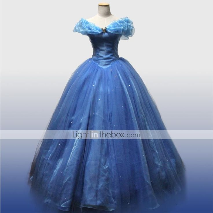 - für Frau - Cinderella Cosplay Kostüme - mit Kleid/Minimantel 2015 – €123.49