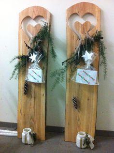 Holzbretter weihnachtlich