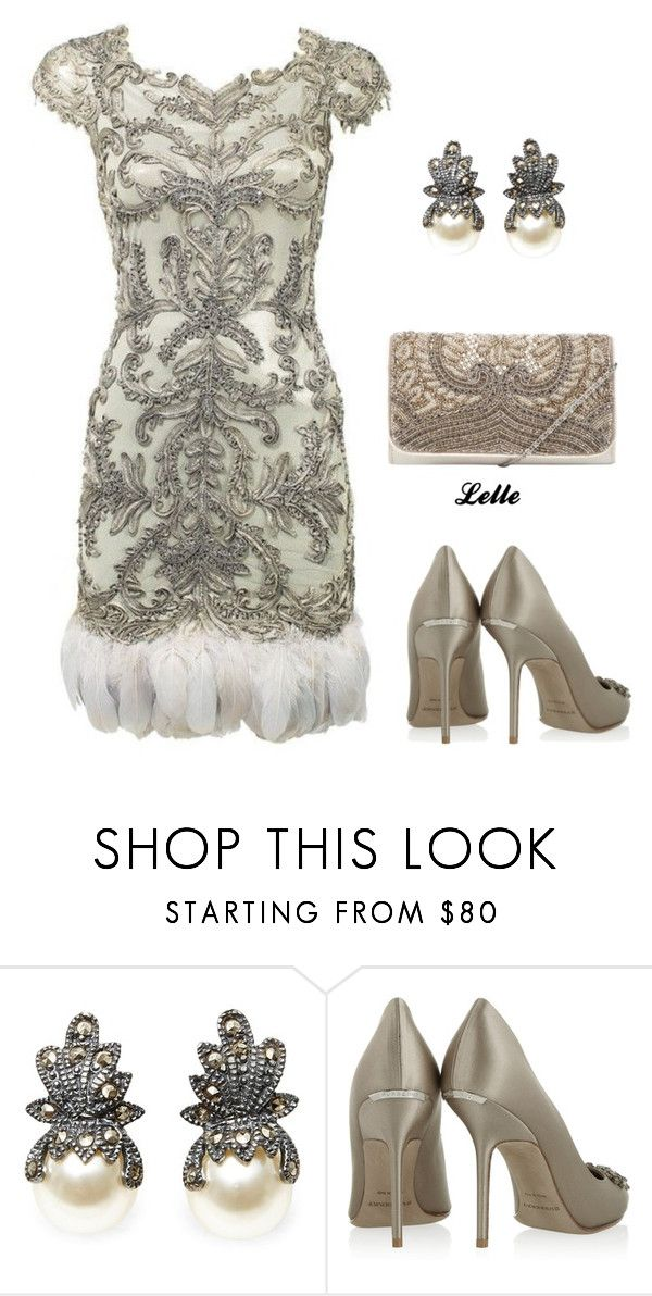 """Marchesa"" by lellelelle ❤ liked on Polyvore featuring Marchesa, Burberry and John Lewis"