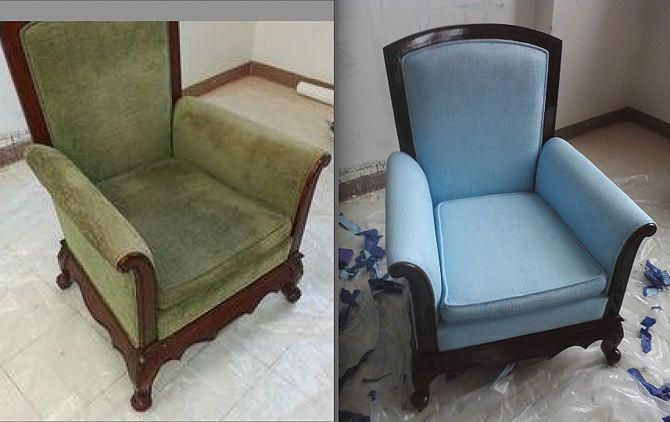 Best Tutorial So Far Asw How To Paint A Fabric Chair 6 Steps
