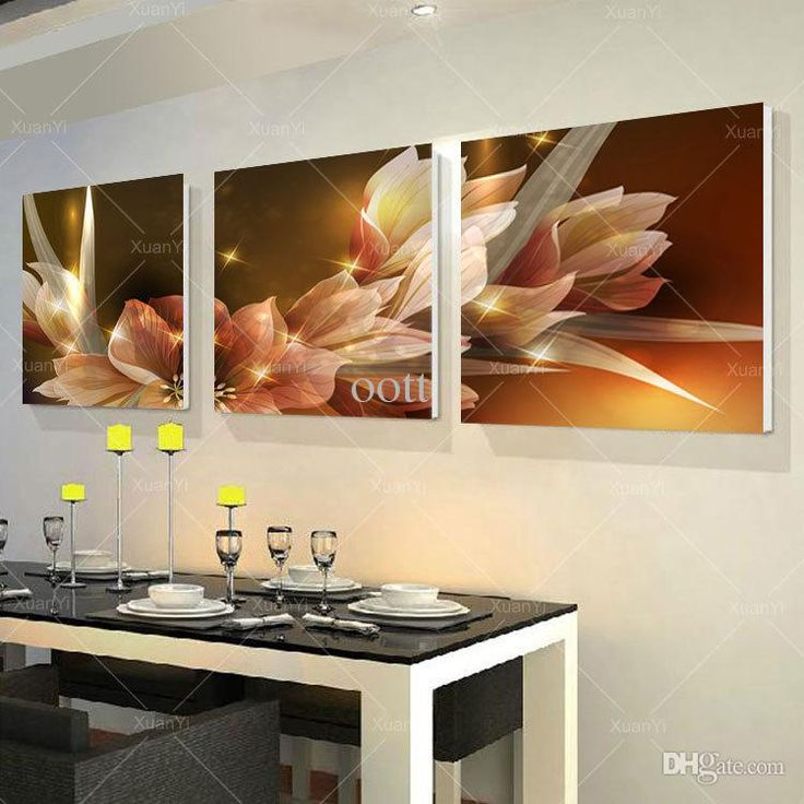 3 Panel Modern Printed Wall Painting Flower Picture Cuadros Canvas Painting  Wall Art Home Decor For