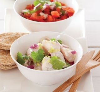 Coconut fish with tomato and lime chutney   Healthy Food Guide