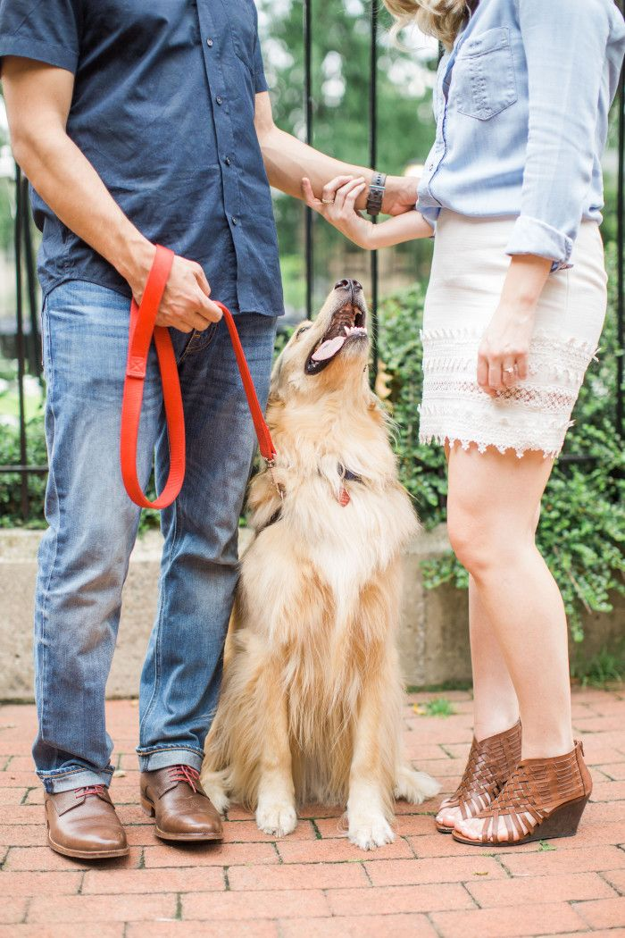 Philadelphia Engagement Photos with Dog
