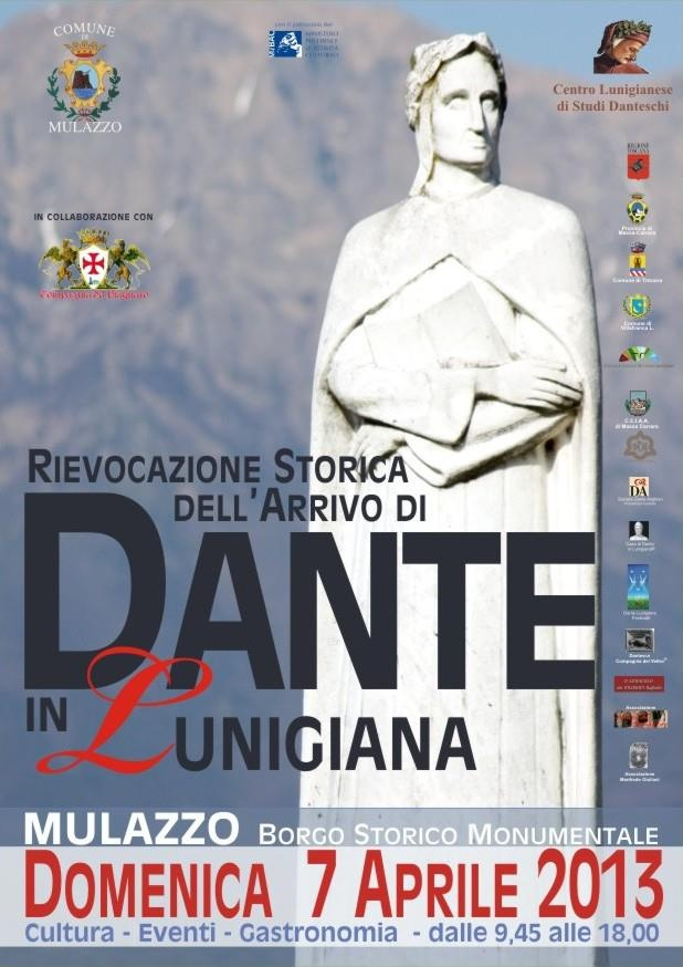 Reenactment of Dante's arrival in Lunigiana