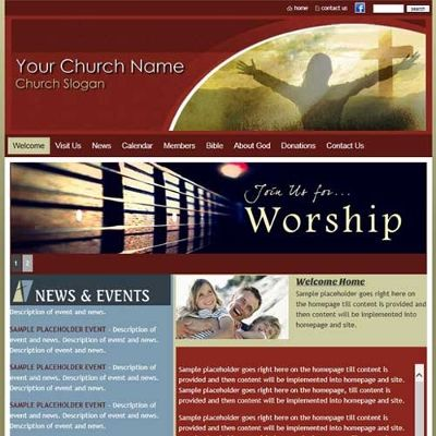 39 best church christian website templates images on pinterest free trial church website templates church web design church website creator pronofoot35fo Image collections
