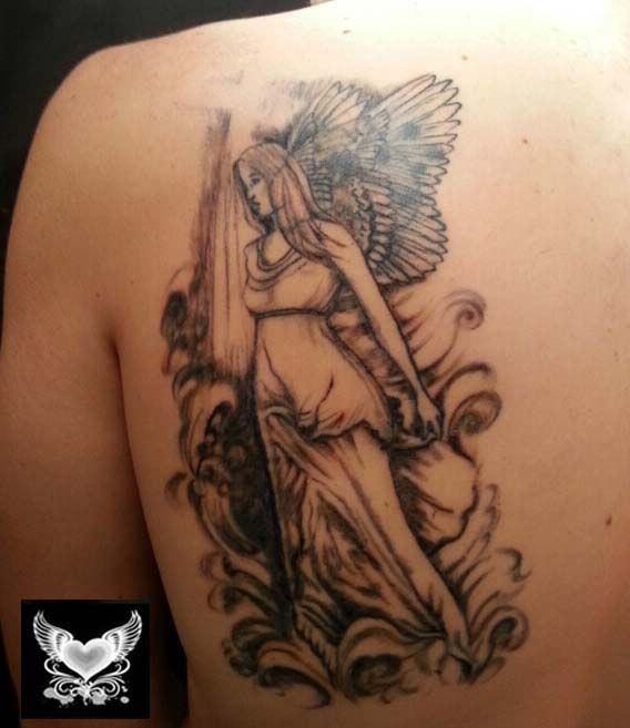17 Best images about Female Guardian Angel Tattoo on Pinterest