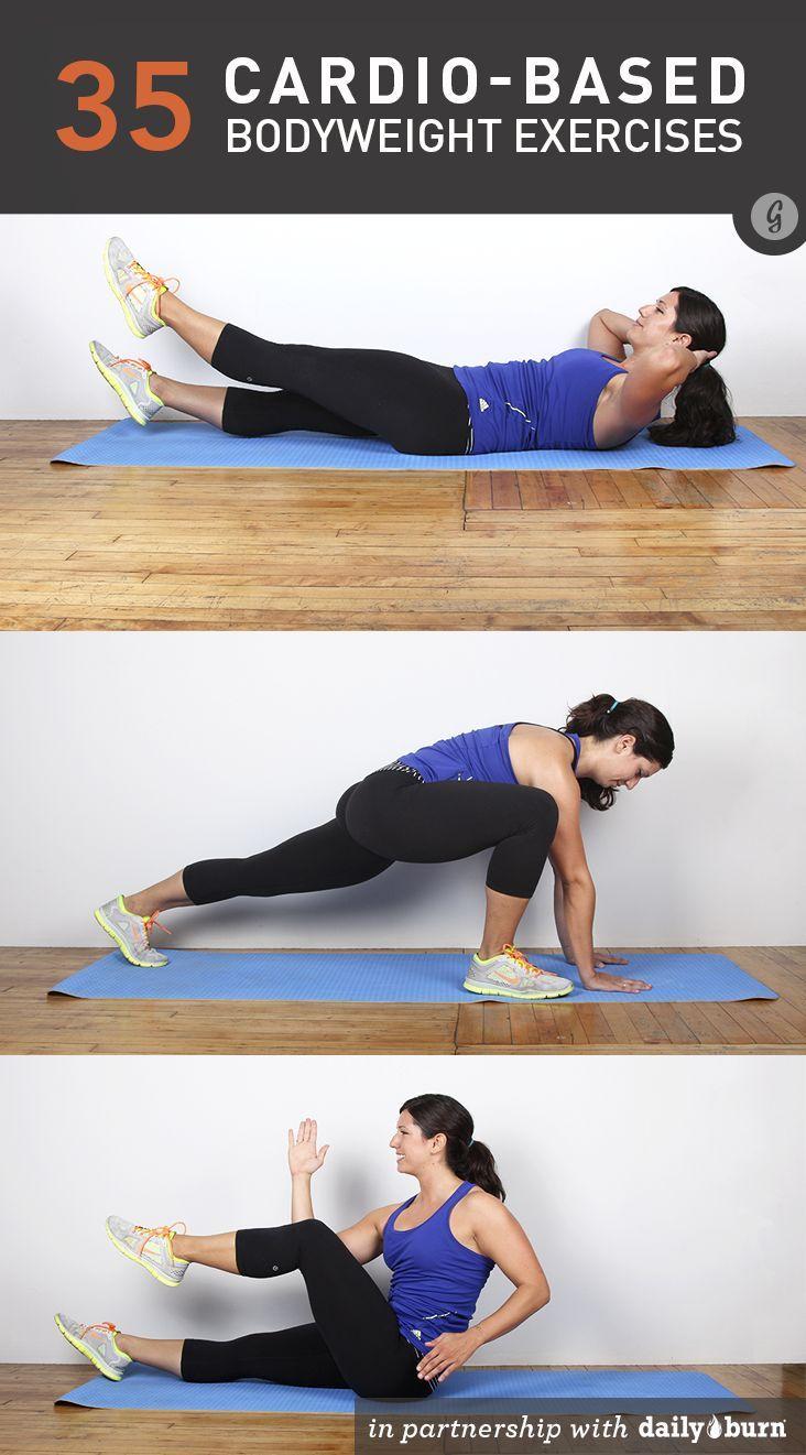 35 Cardio-Based Bodyweight Exercises #cardio #bodyweight #fitness