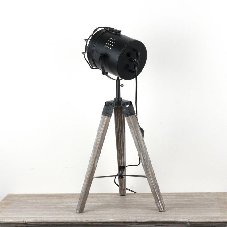 Industriální stolní lampa reflektor 42cm