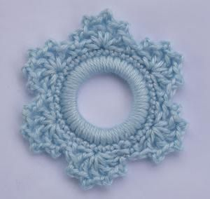Lacy Snowflake Ring Ornament