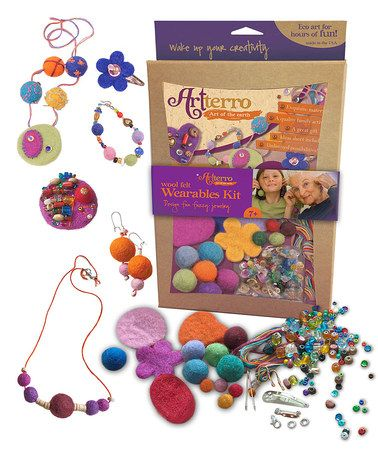 Take a look at this Artterro Wool Felt Jewelry Kit by Craft Time: Kits & Supplies on #zulily today!