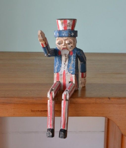 Vintage wooden  Uncle Same wants you wooden figure