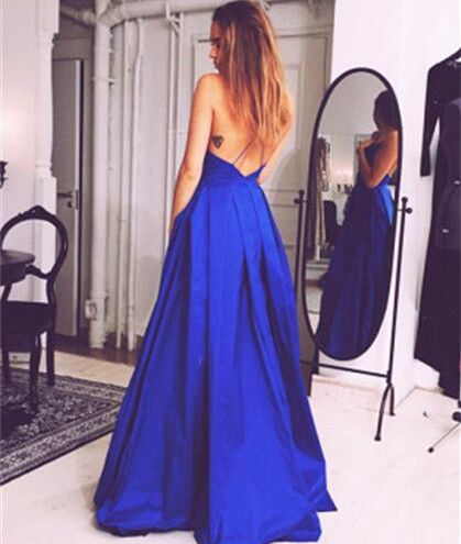 New Arrival Sexy Royal Blue Evening Dress
