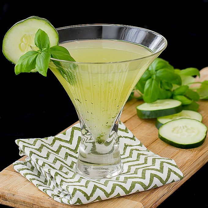 Cucumber Basil Martini - I'm Bored, Let's Go...