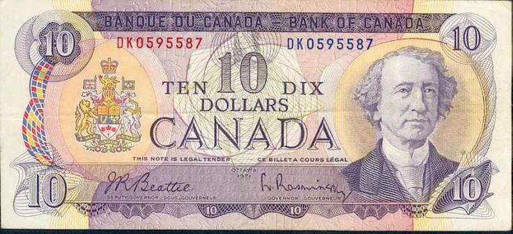 $ 10 billet canadien / Canadian $10 Bill (1/2)