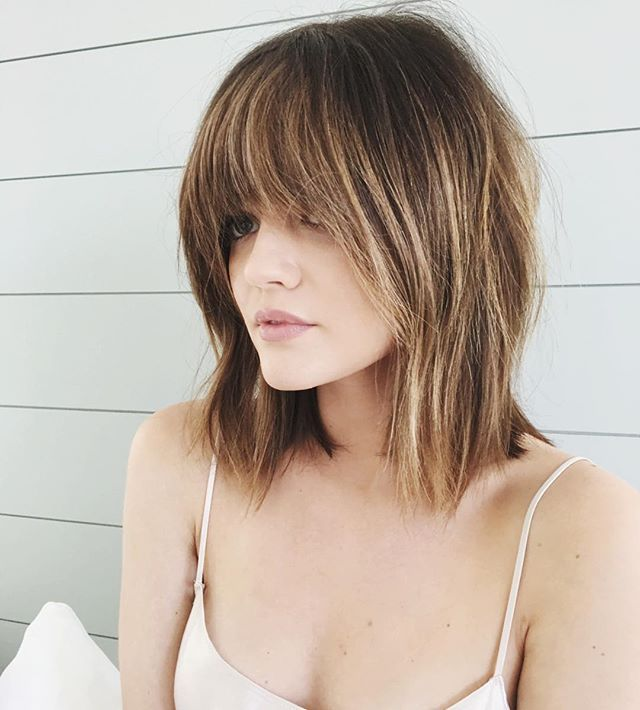 These Are the Best Celebrity Hair Changes From Instagram So Far Lucy Hale Lucy's long, shaggy bangs looked like they came straight out of the 1970s — but the tousled texture gave it more of a modern-day feel.