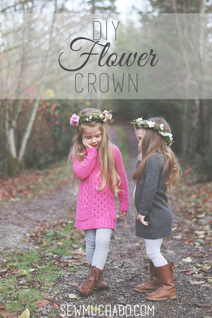 Learn to make your own flower crowns with this DIY Flower Crown Tutorial! Using faux flowers, your crown will last all year long!