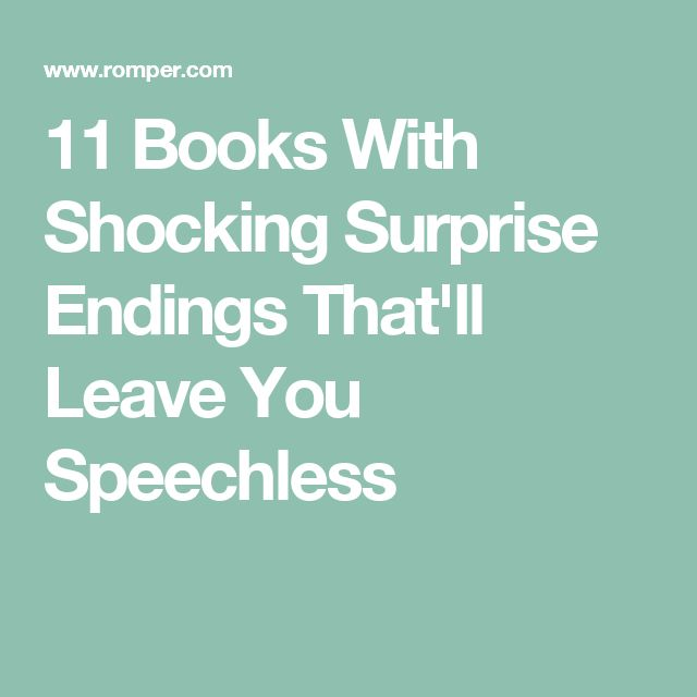 11 Books With Shocking Surprise Endings That'll Leave You Speechless