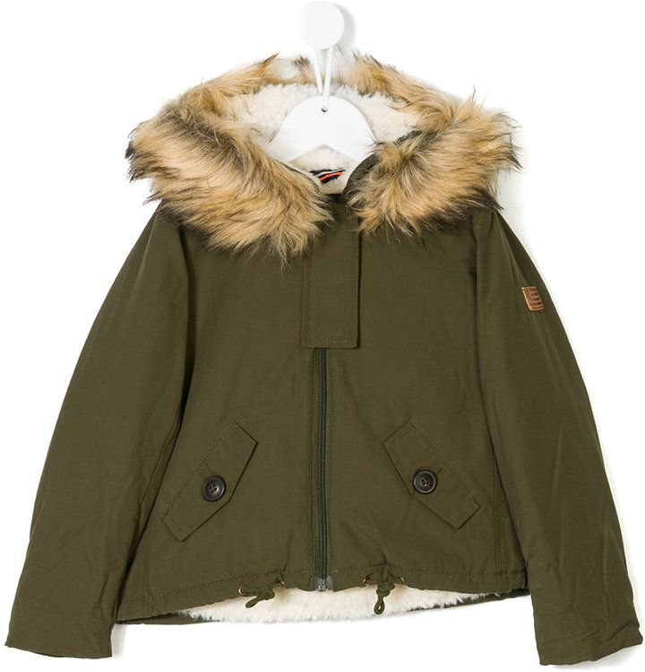 American Outfitters Kids padded faux fur lined coat