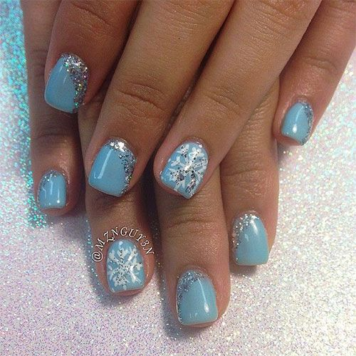 58 best easy winter nail art images on pinterest acrylics simple easy winter nails prinsesfo Image collections