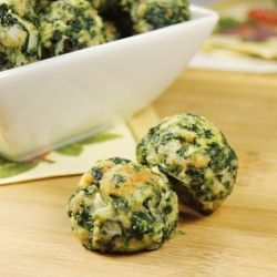 Party food: Spinach Balls 2(10 oz.)pkgs frozen spinach, thawed & well-drained 2