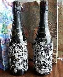 Мастер-класс по филиграни из джута: Новогоднее шампанское