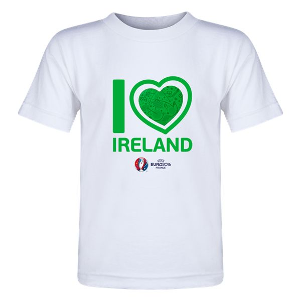 Ireland Euro 2016 Heart Toddler T-Shirt