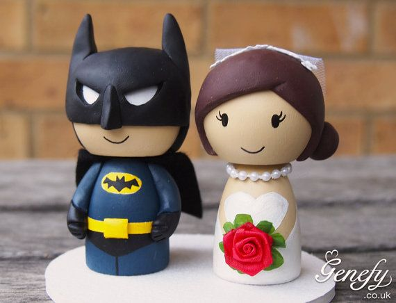 Cute BATMAN and bride superhero wedding cake by GenefyPlayground, £88.00