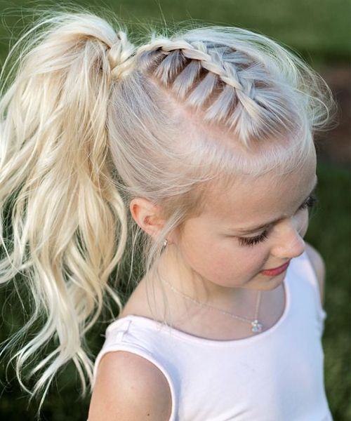 21 Most Popular Braided Pony Hairstyles 2018 for Little Girls